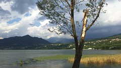 storm is coming (Lets go hand in hand.) Tags: lake lakescape view storm stormy badweather clouds nature natural italy italianlandscape