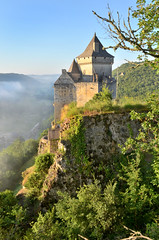 Out on a limb. Castelnaud castle (pentlandpirate) Tags: mist france castle wow dordogne castelnaud perigord