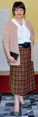 Birgit022576 (Birgit Bach) Tags: pleatedskirt faltenrock blouse bluse cardigan strickjacke