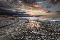 Fiume Eleuterio (ettorelomb) Tags: river aspra mare beach palermo sunset colors sicily italy