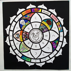 IMG_2490_800px_o (Music & Mandala Art for Healing) Tags: donnagentile dogs deserve better aimforabettertomorrow communitymandalaproject beeatthehive the hive mandala puzzle healing art rescue