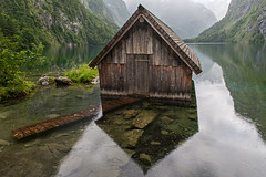 DSC_3795 (svetlana.koshchy) Tags: berchtesgaden germany bavaria lake obersee bayern mountains alpen boathouse reflection alps berchtesgadener land