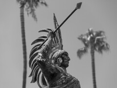 Warrior (james.froumis) Tags: nikon d750 ensenada cruise bajacalifornia mexico statue warrior plazacivica 24120mmvr monochrome blackandwhite