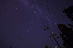 Perseids over Mt. Seymour (crgshpprd) Tags: meteor milky way ski lift vancouver bc pnw astro shower