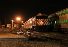 Midnight at Waukegan (BravoDelta1999) Tags: metra unionpacific up railroad chicagoandnorthwestern cnw railway northline kenoshasubdivision waukegan illinois emd f40ph2 153