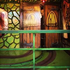 The Ghost Inside (Helldorado Berlin) Tags: hipstamatic oggl janelens blankofreedom13film kirmes funfair crangerkrimes crange herne ghost maske geisterbahn horror ruhrgebiet ruhrpott wanneeickel germany cheapthrills greenbrown door