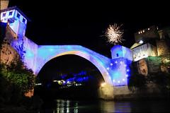 """Stari Most"" - Mostar,  Bosnia and Herzegovina (TravelsWithDan) Tags: bridge fireworks neretvariver starimost oldbridge mostar bosniaandherzegovina night"