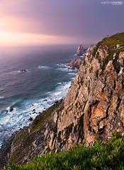 """""""Cabo da Roca"""" Cliffs (arturomontes) Tags: cabodaroca portugal cliff landscape paisaje seascape sea sunset sun sky rocas acantilado fuji filtro nd xf mar atardecer"""