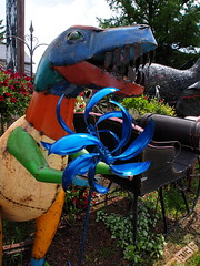 P6080790 (photos-by-sherm) Tags: good quilts retail garden flowers sculpture yard accessories amana iowa summer decorations metal