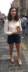 If I Had A Rich Man (Clydesider2014) Tags: if i had a rich man edinburgh fringe 2016 girl royal mile shorts