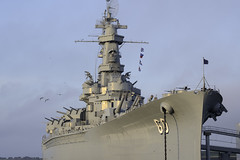 Rakish Lines (dcnelson1898) Tags: mobile alabama mobilebay south gulfofmexico battleship ussalabama bb60 southdakotaclass worldwar2 usnavy militaryhistory ship warship