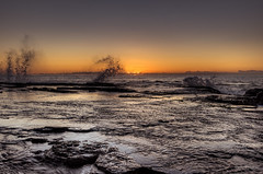 It is reborn anew, and rises from the embers to live another day (JustAddVignette) Tags: australia beforedawn early landscapes newsouthwales northnarrabeen northnarrabeenrockpool northernbeaches ocean rockpool rocks seascape seawater sky sunrise sydney water