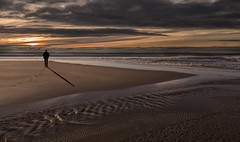 Me and my Shadow (yadrad) Tags: sunset shadow seascape beach silhouette sand cornwall whitsandbay whitsands sothwest thewestcountry tregonhawke