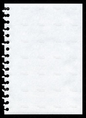 Notepad page background texture (imagesstock) Tags: white classic vertical closeup blackbackground paper notebook spiral hole empty istockphoto nopeople blank simplicity page document letter backgrounds torn sheet material swirl copyspace damaged istock isolated textured perforated notepad notepaper inarow officesupply spiralnotebook partof ringbinder whitepaper singleobject tornedge blankpaper isolatedonblack texturedeffect plainpaper informationmedium attheedgeof cutortornpaper