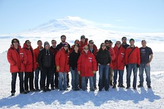 "Obligatory Mt Erebus group shot • <a style=""font-size:0.8em;"" href=""http://www.flickr.com/photos/27717602@N03/15869438959/"" target=""_blank"">View on Flickr</a>"