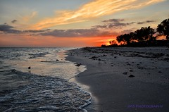 Sunset on the Island (AZSunsets) Tags: sunset beach gulfofmexico beautiful island florida shore sanibel justclouds