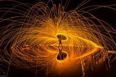 Y E E    H A W (Elton McAleer) Tags: nightphotography lightpainting spin auckland steelwool octarine eltonmcaleer
