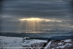 Beams of Shropshire Sunlight (johnkenyonphotography@gmail.com) Tags: winter sun snow ice sunrise frost december shropshire caradoc longmynd churchstretton shropshirehills