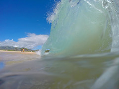 little barrel (bluewavechris) Tags: ocean sea beach water hawaii surf tube barrel wave maui swell shorebreak bigbeach knekt gopro oneloa