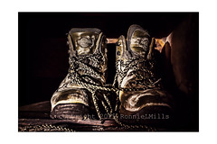 A Tribute To My Boots (RonnieLMills) Tags: friends walking nikon northwest boots good salt dried ie laces waterproof territory d3300 magicunicornverybest