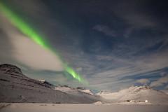 Tonight in Faskrudsfjordur (*Jonina*) Tags: iceland ísland faskrudsfjordur fáskrúðsfjörður auroraborealis northernlights norðurljós night nótt winter vetur sky himinn clouds ský snow snjór longexposure jónínaguðrúnóskarsdóttir january2nd2015 25faves 500views 50faves 1500views
