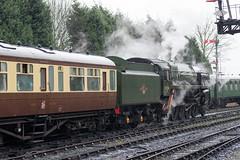 92214 at Bridgnorth (f22photographie) Tags: steamengine steamtrains severnvalleyrailway bridgnorth preservedrailways 9f heritagerailways 92214 zeiss100mmf20zflens