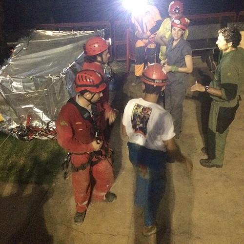 Montagem de ponto quente. #pointChaud #rescue #resgate #GBPE #espeleo #SSF #secours #bambui