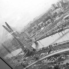 upload (Manoel Queiroz Ferreira) Tags: bridge brazil square office chaos traffic nashville sopaulo rainy squareformat iphoneography instagramapp uploaded:by=instagram