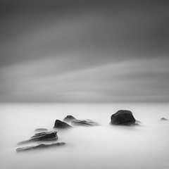 High Tide (Aleksandr Smirnov) Tags: longexposure sea blackandwhite bw seascape monochrome stones minimal minimalism waterscape