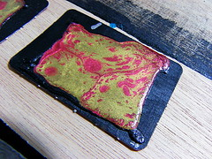 zelya art - pbeo fantasy test (7) (Zelya Art) Tags: test diy peinture papier artisanal doityourself abstrait zelya peinturevitrail peinturecramique reliureartisanal zelyaart pbeoprisme pbeomoon pbeo mixmdias