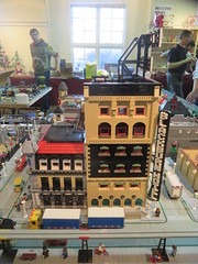 MOAH Winter Show 2014-2015 (126) (Last pass) (origamiguy1971) Tags: layout town lego mosaic spiderman trains superman batman palo alto ghostbusters moc walle moah baylug esseltine origamiguy origamiguy1971