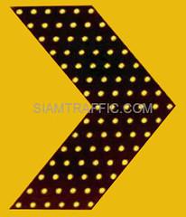 ป้ายเชฟรอน ป้ายเตือนแบบมีไฟกระพริบหลอด LED | SOLAR CELL CHEVRON SIGN