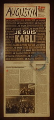 """""""Augustin"""" Viennese Newspaper made by Homeless People. Karli = Charlie """"an apple a day keeps the doctor away - An ENSO (Japanese: circle, kreis) a Day ..."""" 29. Jänner 2015:"""