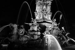 Nrnberg     Neptun by night            110422 (Eddy L.) Tags: germany blackwhite nuremberg franconia sw neptunbrunnen franken biancoenero nrnberg nachtaufnahme blanconegro sal35f14g nrnbergstadtpark nrnbergnordstadt