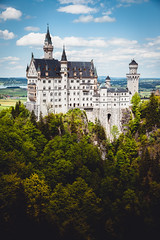 nonplussed (itawtitaw) Tags: old blue light sky cloud color castle architecture bayern bavaria woods colorful glow postcard bluesky foliage neuschwanstein schloss marienbrcke ludwigii canoneos5dii canon2470mm28ii
