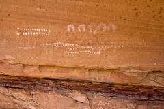 Handprint and Dot Pictographs (jpmckenna - Madagascar Trip Now) Tags: utah hiking backpacking canyonlandsnationalpark canyonlands desertlandscape needlestraverse