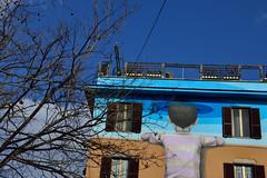 SETH   globepainter   great streetARTIST   painting in Roma Italia (greta colpaert) Tags: streetart roma painting seth colours happiness faade globepainter