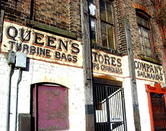 Queen's Stores Company, Liverpool (Tony Worrall) Tags: saved county old uk england urban history sign architecture liverpool stream tour open place northwest country north visit location warehouse area tall northern update past built mersey attraction relic olden ghostsign merseyside souse welovethenorth 2015tonyworrall