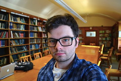 Myself (shaunkeegan) Tags: portrait selfportrait male me face self glasses nikon university library uni studying zoology selfie universityofglasgow d3100 nikond3100