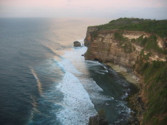 Cliffs near pecatu village and Pura Luhur Uluwatu