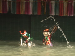 Water Puppets in Action