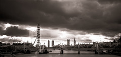 London Skyline Sunshine & Cloud