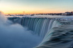 Frostbite [Explored] (Empty Quarter) Tags: new york nyc longexposure blue winter usa mist ny ontario canada cold ice water fog america sunrise river landscape photography waterfall twilight state finger sony fingers niagara falls steam hydro freeze hour horseshoe f4 province frostbite 2470 a7r