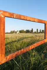 casual frame (Whit Of Wit) Tags: italy terrain countryside scenery gate country entrance entryway frame gateway land environment opening barrier portal exit setting surroundings emiliaromagna egress reggionellemilia