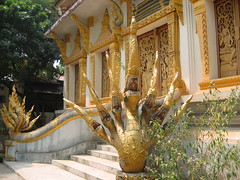 Golden Ornaments in Buddhist Temple Vientiane