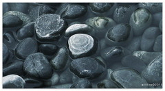 Rocky relationship - 1844 (willfire) Tags: lake water rock stone pond singapore loneliness quiet peace time tide smooth dry example pebble zen leader survival leadership outstanding headabovewater willfire