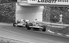 1970 Canadian Grand Prix Ickx Ferrari passes Stewart Tyrrell A (nwmacracing) Tags: st jackie grand ferrari canadian prix stewart le 1970 tremblant circuit formula1 mont 001 tyrrell jovite ickx