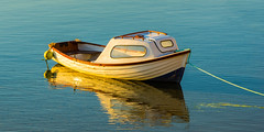 Shimmering Reflections (williamrandle) Tags: light sea water beautiful reflections landscape golden boat spring nikon holidays harbour outdoor northsea serene moray goldenhour shimmer cullen 2016 banffshire buoyant northeastscotland d7100 tamron2470f28vc