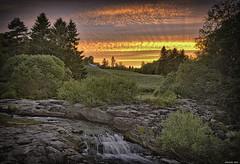 Kuttilankoski (p hakala p) Tags: longexposure sunset sky finland river redsky salo auringonlasku slowwater vaskio pitkojantie kuttilankoski
