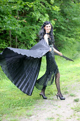 IMG_1584e (ScarletPeaches) Tags: bethw goth fairy isiswings outdoor black pixie